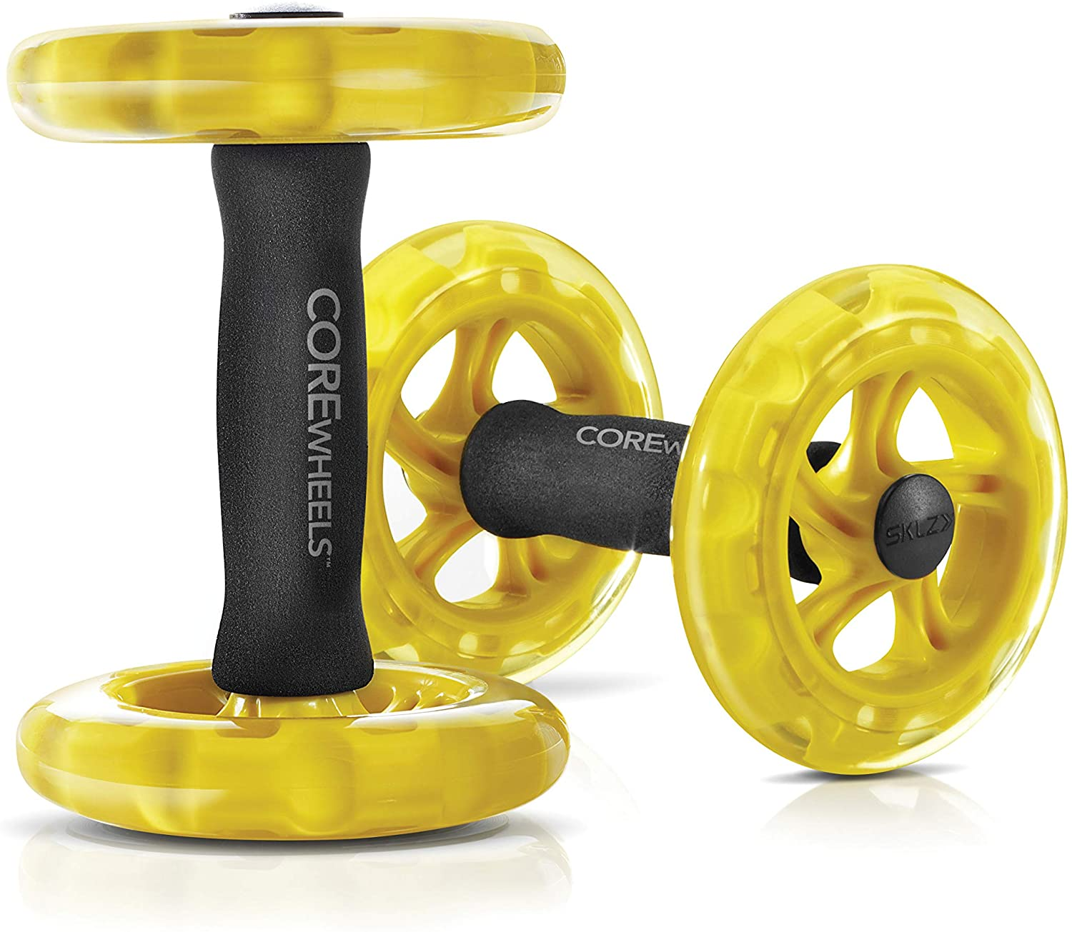 Individual ab wheel rollers for six-pack abs